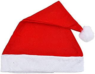 Armfer-household supply 5Pcs Santa Claus Hats Economical Cotton Felt Lightweight Christmas Hat Pompom Fleece Winter Caps for Adults Kids Merry Xmas Carnival Party Costume Props