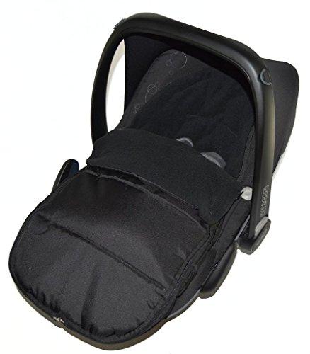 Chancelière Siège auto/Cosy orteils Compatible avec ABC Design nouveau Siège auto Born Black Jack