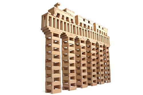 160-2.000 Holzbausteine Natur + 1 Baumpflanzung, 100 % Made in Ravensburg, Für Kinder ab 3 Jahren, In 3 Formen, Bauklötze groß unbehandelt