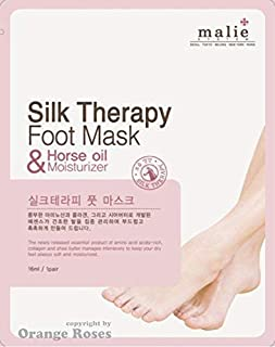 [OBS lab] Silk Therapy FOOT MASK 1 Pair x 5 Packs, This Foot Care Sheet Mask Moisturizes and Nourishes Foot Skin with Herb Complex for the Dry Foot