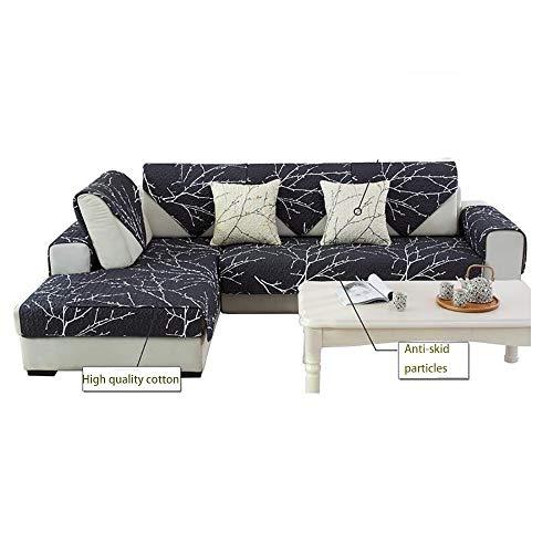 GAOJIN Baumwolle Sofa Überwürfe,sofabezug Stretch Elastische,Retro Baumwoll-Twill-Stoff Linie Nähprozess Rutschfestes Möbelbeschützer,für Wohnzimmer Schlafzimmer Einfach Und Modern