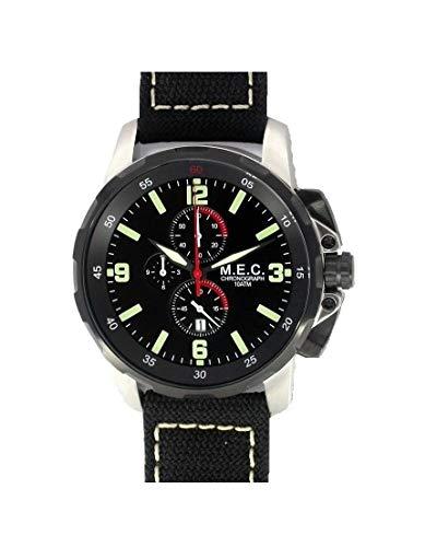 Orologio Uomo Cronografo al Quarzo con Cinturino Militare Impermeabile