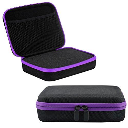 Lurrose 1pcs opslag Case Drop -proof 30 flessen Zipper Ontwerp Duurzame Essential Travel Box Holder Organizer voor reizen