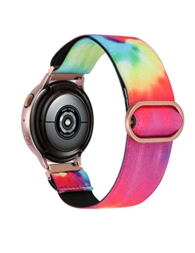 TOYOUTHS Compatible with Samsung Galaxy Active 2 Watch Band 40mm Elastic Stretchy Loop Soft Nylon Strap Women Men for Galaxy Watch Active 40mm/Galaxy Watch 42mm SM-R810/20mm Watch
