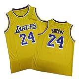 Kobe Bryant Basketball Jersey per gli uomini Los Angeles Lakers, 24 # 8 # Retro Comfort Loose Canottiera, Unisex Senza Maniche Maglia Abbigliamento Hip Hop Giallo 24# XL