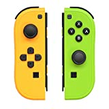 Joy-Pad Controller Compatible with Switch Joycon,Left and Right Controllers with Straps Support Wake-up Function(Yellow and Green)