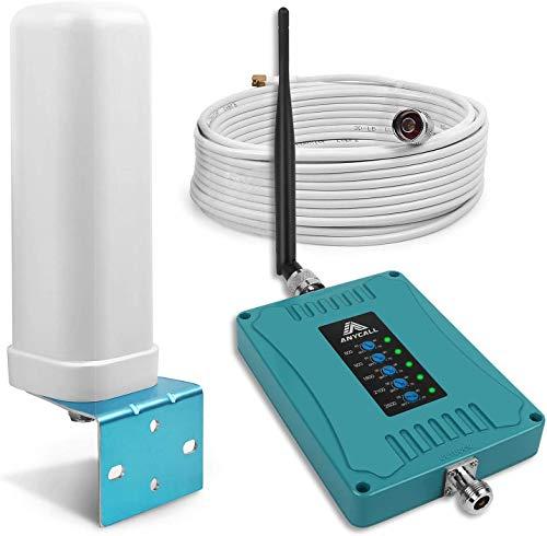 ANYCALL 5-Banda Repetidores de señal de móviles gsm 3G 4G Amplificador de Cobertura Mejora Llamadas y Datos Movistar/Orange/Yoigo/Vodafone 4G Repetidor para Casa/Oficina/RV