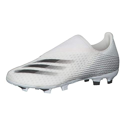 adidas Herren X GHOSTED.3 LL FG Fußballschuh, Weiß/Schwarz/Silber Metallic (Ftwbla Negbás Plamet), 43 1/3 EU