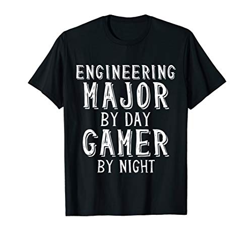 Engineering Major By Day Gamer By Night Student Gift Shirt