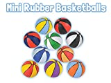 HOWBOUTDIS (2 Pack) of Assorted Color Mini 7' Rubber Basketballs, Indoor or Outdoor Game Balls, Great Party Favor, Perfect for Beginners