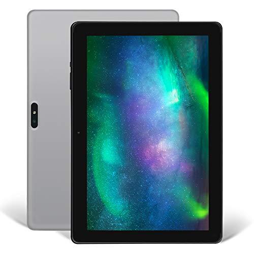 Tablet 10 Zoll Android 9.0, iProda Tablet-PC, 3GB RAM, 64GB, Erweiterte Kapazität 128G, Ultra Dünn Metallschale, Quad Core Processor, WLAN /Bluetooth/GPS/HDMI, 5000mAH Battery