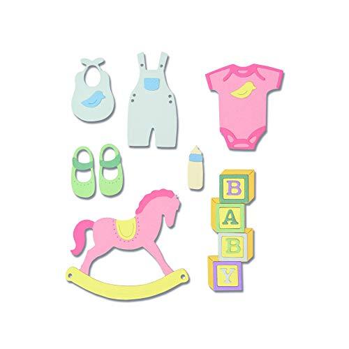 Sizzix New Baby # 2 Fustella, Multicolore, taglia unica
