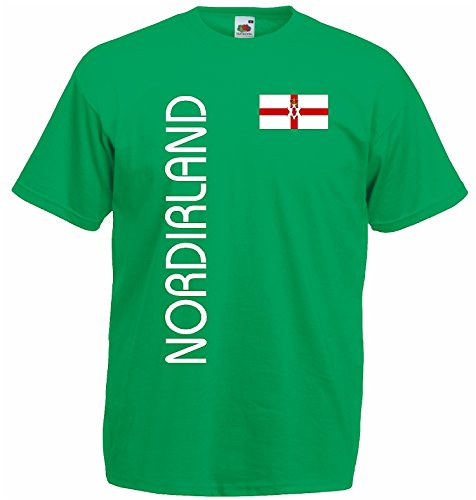 World-of-Shirt Herren T-Shirt Nordirland EM 2016 Trikot Fanshirt|grün-XL