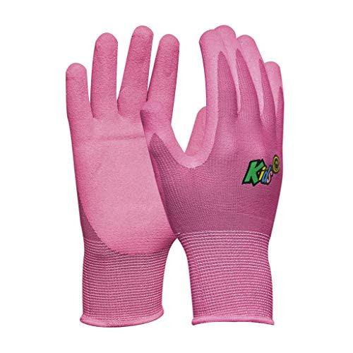 Gebol Arbeitshandschuhe für Kinder von 5 bis 8 Jahre l Größe XXS (Gr 5) l Rosa l Kids Pink l 1 Paar 709704