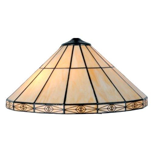 LumiLamp 5LL-3088 Tiffany Stil Lampenschirm Buntes Glas Art Deco Ca. Ø 41 cm handgefertigt glasschirm
