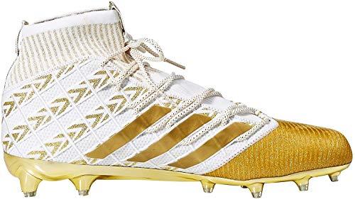 adidas Men's Freak Ultra Football Shoe, White/Gold Metallic, 14 M US