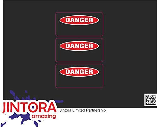 JINTORA - Duct Tape May Fail Hard Hat Helmet Stickers - Autocollant en Vinyle imprimé pour Voiture, classeur, Moto, vélo, Mur, Porte, réfrigérateur, etc. - 62x99mm