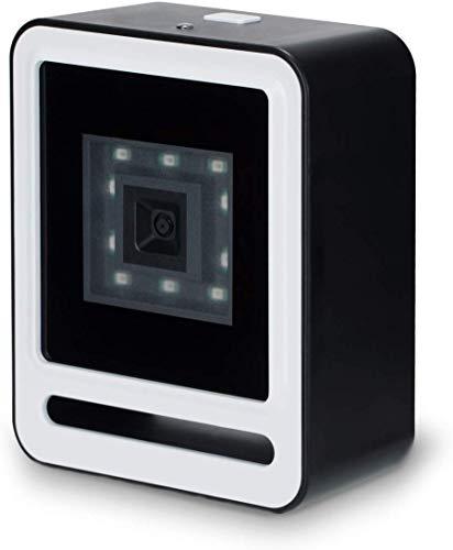 Tera 1D 2D QR Barcode Scanner Desktop USB 2,0 Wired Omnidirektionaler Automatischer Barcodeleser Handfrei Plug & Play (Schwarz & Weiß) für Supermarkt, Bibliothek, Lagerhaus