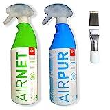 Kit Limpiador aire acondicionado Airpur + Airnet + Peine de aletas....