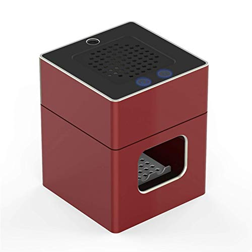 HAOSHUAI Cenicero, Ashtray Creative Cargar Oficina Fumador de Fumadores Portátil (Color: Rojo) (Color : Red)