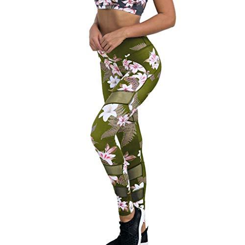 URIBAKY - Pantalones de Deporte para Mujer Verde 36 ES/L