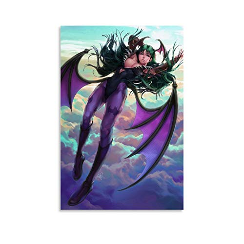 KUGUO Morrigan Aensland Artgerm Poster Decorative Painting Canvas Wall Art Living Room Posters Bedroom Painting 12x18inch(30x45cm)