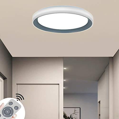 COOSNUG LED Deckenleuchte 60W Dimmbar Grau Acryl Sternenlicht Deckenlampe Lampe Kreative Energiesparlampe für Flur Wohnzimmer Schlafzimmer Küche Büro mit Fernbedienung