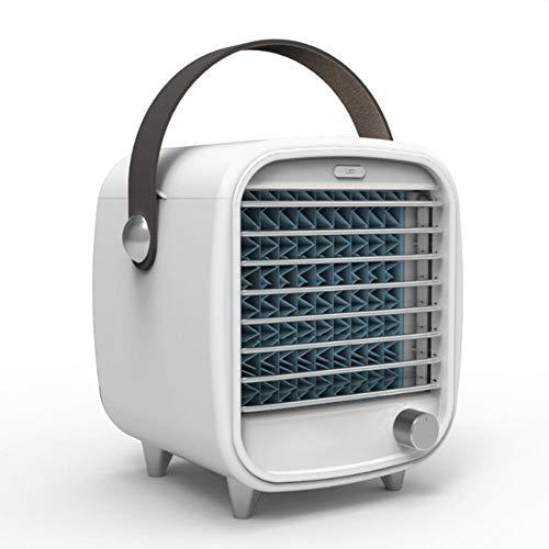 Enfriador de Aire portátil Personal y humidificador, Ventilador de enfriamiento de Escritorio, para el hogar y la Oficina, con conectividad USB y luz LED incorporada