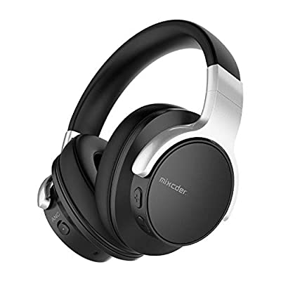 Mixcder E7 Active Noise Cancelling Headphones Bluetooth 5.0 Wireless Over Ear Headset with Hi-Fi Deep Bass, 30 Hours Playtime, Quick Charge, CVC8.0 Mic for PC/Cell Phones/TV - Black from Mixcder