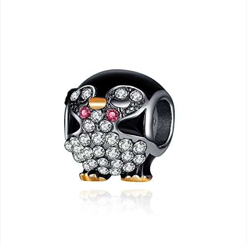 Pandora 925 Jewelry Bracelet Natural Crystal Animal Penguin Beads Charms Original Bangles Party Accessories Women Diy Gifts