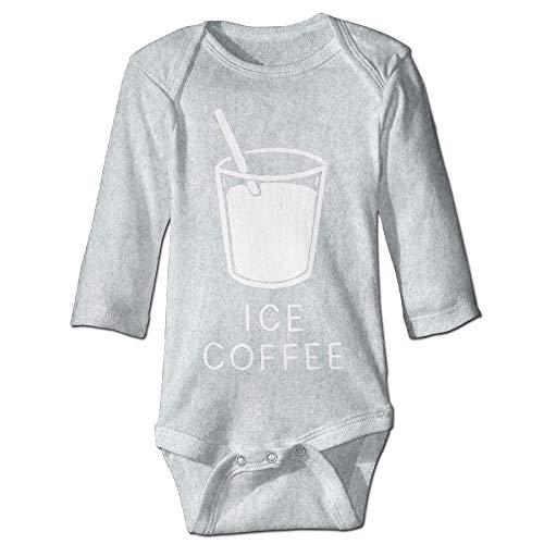 Body de manga larga para beb, unisex, para beb, caf, hielo, beb, beb, beb, beb, manga larga, traje de sol, color ceniza