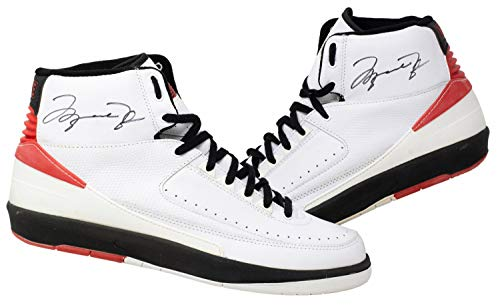 Michael Jordan Autographed Signed Chicago Bulls Pair Of Air Jordan Ii Shoes PSA/DNA Loas