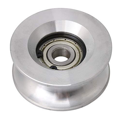 10x60x25mm U-förmiges Aluminium versiegeltes Lager Stahl 6200 Guide Rolle Schiene Kugel rollendes Rad Silber