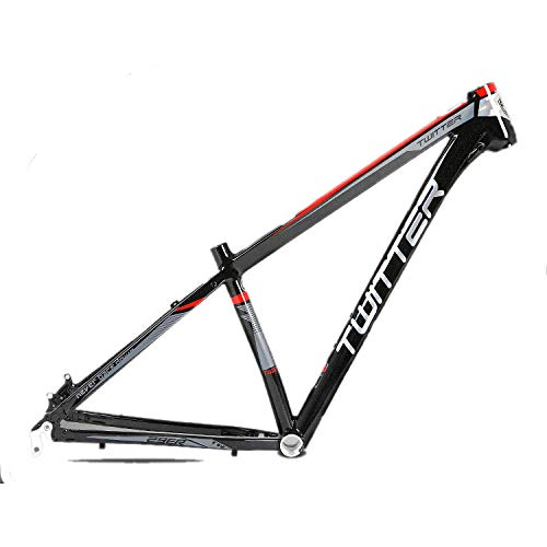Cuadro de bicicleta de montaña de aleación de aluminio Aleación de aluminio completo Cuadro de MTB ligero Cuadro de bicicleta de montaña Cuadro de bicicleta MTB 29er Enrutamiento interno ,Negro,17