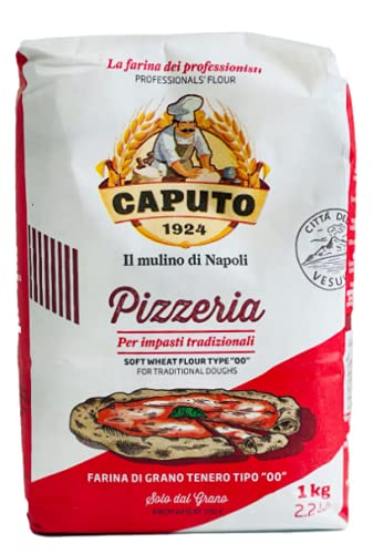"""Mulino Caputo Farina Italiana di Alta Qualità """"Pizzeria"""", Tipo """"00"""", Confezione da 5 x 1 kg"""