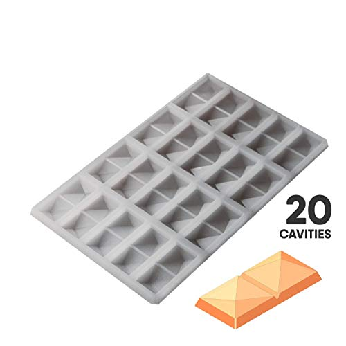 Purchase Geometric Bar Chocolate Silicone Mold 9.0mL 20pc FOOD GRADE PLATINUM SILICONE #S16