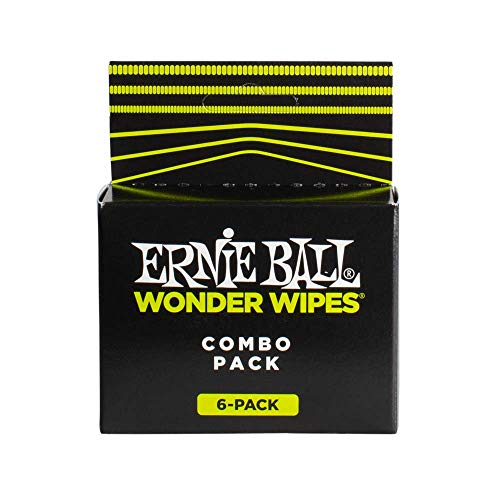 Ernie Ball Wonder Wipes Combo Pack - 3 String Cleaners, 2 Polishes, 1 Fretboard Conditioner