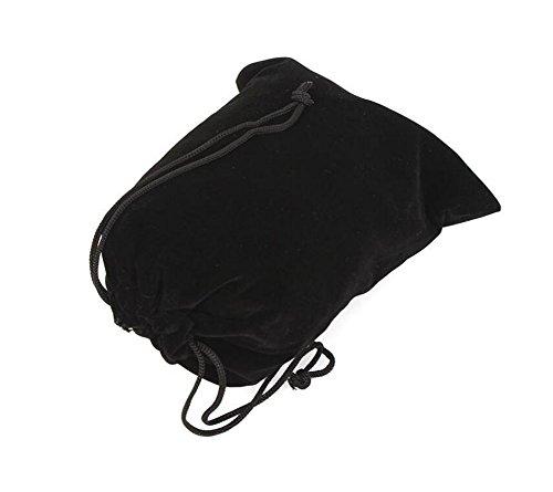10PCS 3,9 '' x 7,8 '' Schwarz Samt Tuch Flanell Bunched Bag/Drawstring Taschen/Schmuck Beutel/Multifunktions Schutzhülle für Handy MP3 MP4 Elektronische Digitalgeräte