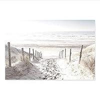 YGACJ 北海の風景とキャンバス上のキャンバスの絵画、リビングルームの家の装飾のための砂丘-50x70cmx1 / フレームなし