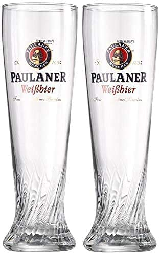 Paulaner Brewery Safety and trust Wheat Weißbier Signature Genuine Free Shipping Spiral 0.5 L Glass