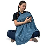 Nursing Cover Breastfeeding Scarf - Baby Multi Use Cover | Lightweight Apron Privacy Feeding in Public | Wide Coverage Car Seat Canopy | Breathable Cotton Plus Size Breast Feed Poncho (Gray)