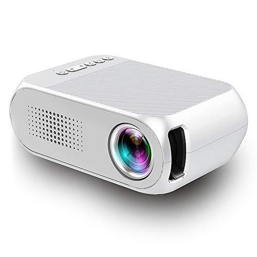 Tonysa videobeamer, 600 lumen 320 x 240 resolutie home theater LCD 1080P HD beamer, thuisbioscoopprojector ondersteunt Chinees, Engels en andere 23 talen met USB/Tf/HDMI/AV