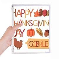 pumkinの感謝祭七面鳥パターン 硬質プラスチックルーズリーフノートノート