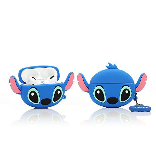 YIGEYI Silikon Hülle Kompatibel mit Airpods Pro Funny Cute 3D Cartoon Case Cover[DSN Benutzerbild Zeichentrickserie] (Big Ear Stitch)