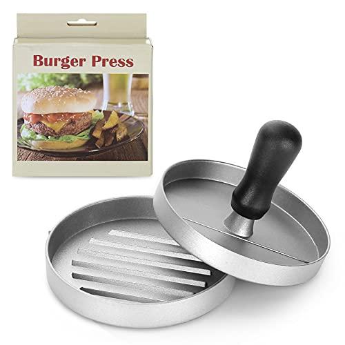 LYITP Pressa per Hamburger, Alluminio pressofuso, Stampo per Hamburger Normale, Ripieni Hamburger, Rotondi, Macchinetta Antiaderente per Patty.