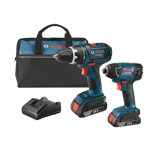 bosch electric drills Bosch CLPK232-181 18V 2-Tool Combo Kit (Drill/Driver & Impact Driver) with (2) 2.0 Ah Batteries