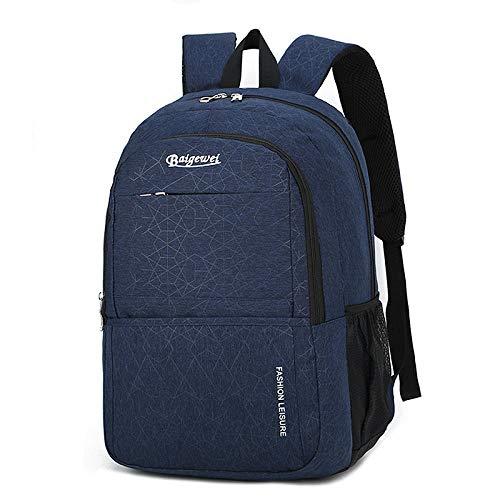 Beni Rucksack Student Reisetasche Computer Rucksack-Blau