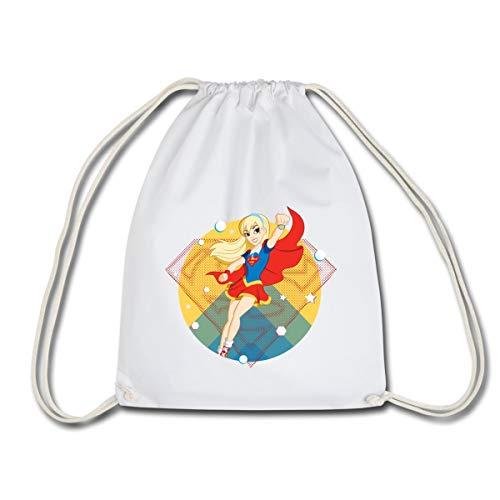 DC Super Hero Girls Supergirl Sac à dos cordon, blanc
