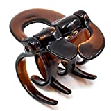 Camila Paris AD702 French Hair Clips for Women, 2 in Girls Hair Claw Clips Jaw Fashion Durable and Styling Hair Accessories for Women, Strong Hold No Slip Grip, Made in France