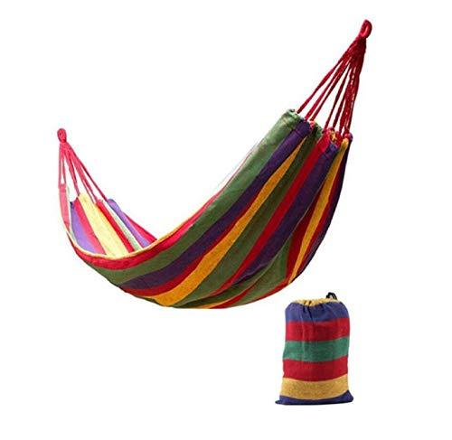 Hamaca Ultraligera para Acampar con Mochila, Gran Oferta, Hamaca Portátil para Ocio Al Aire Libre con Arcoíris, Hamacas De Lona B